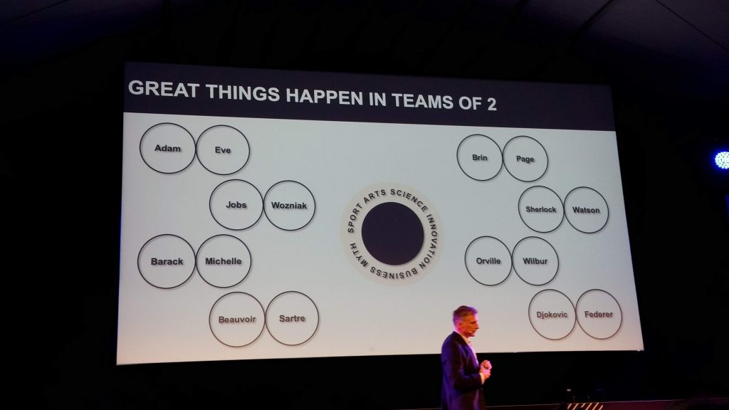 Logitech-CEO Bracken P. Darrell at the TNW Conference 2019: Great Things Happen in Teams of 2
