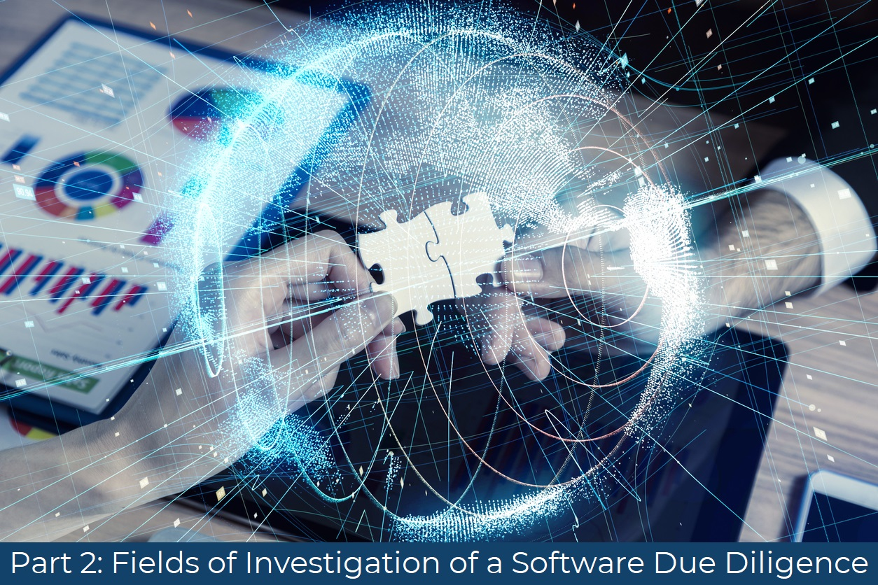 Fields of Investigation of a Software Due Diligence